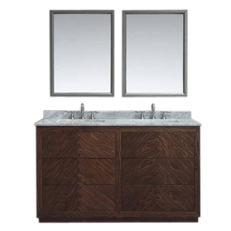 Aquamoon Baltimore 60″ Hazelnut Double Sink Modern ...