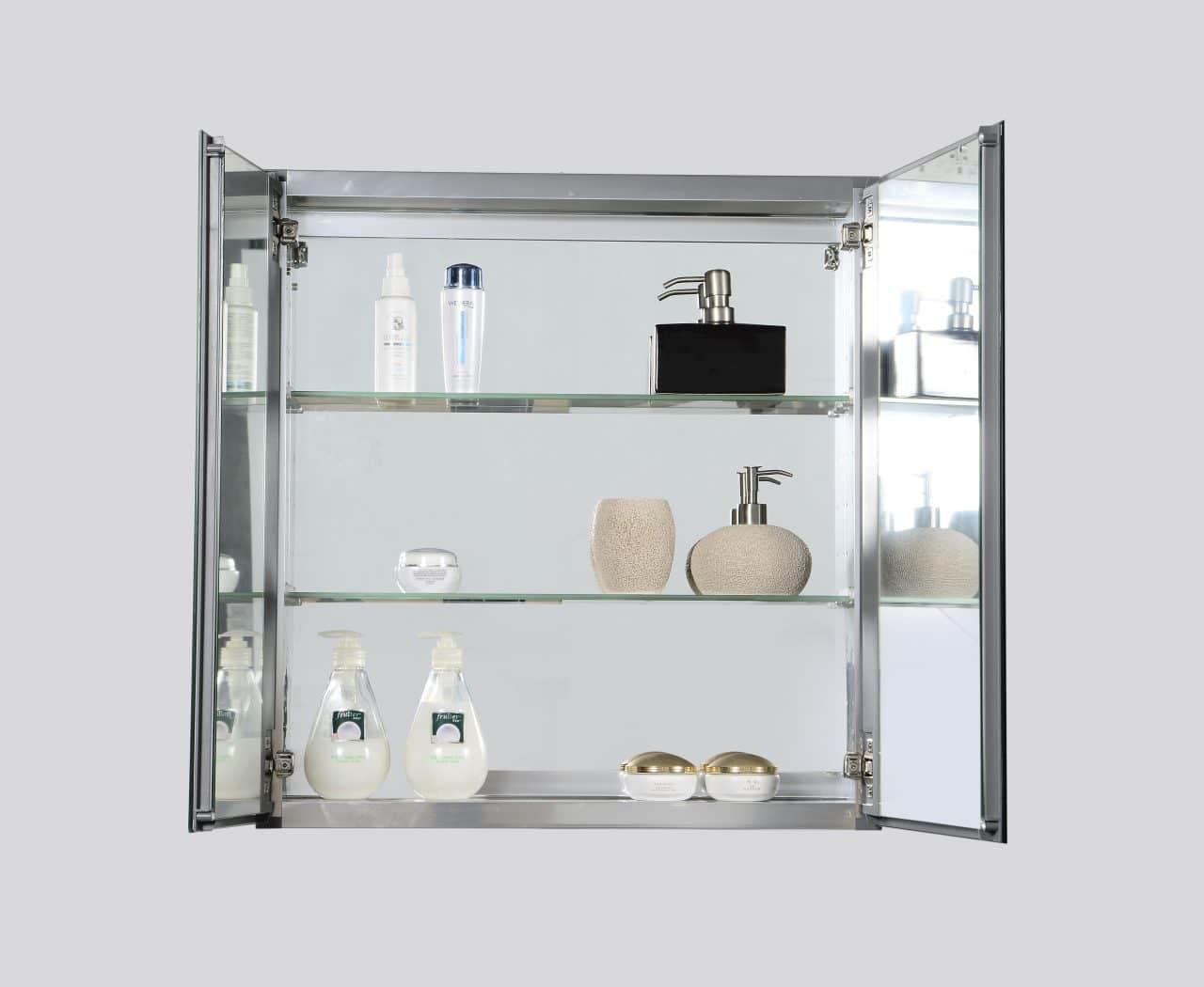 bathroom medicine cabinet w/ mirrors 30″ x 26″ - trends
